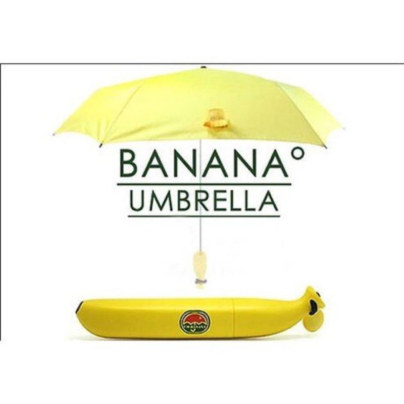 《24H出貨免運》超可愛黃色 香蕉造型傘 香蕉傘 創意傘 晴雨傘 陽傘 聖誕禮物 生日禮物 UM-Banana