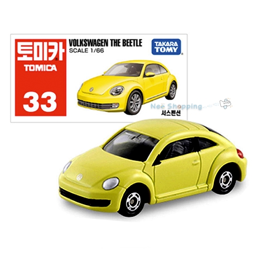 VOLKSWAGEN Takara Tomy Tomica 33 大眾甲蟲壓鑄汽車玩具 1: 66 比例