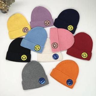 🍄Jan15ary潮童館🍄兒童笑臉帽子 秋冬季男女童毛線帽 小孩保暖護耳針織帽 寶寶套頭帽