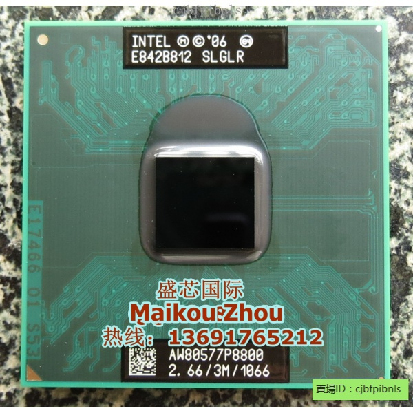 全新下殺價 P8700 P8800 T9400 T9550 T9600 T9800 T9900 P9600筆記本CPU原