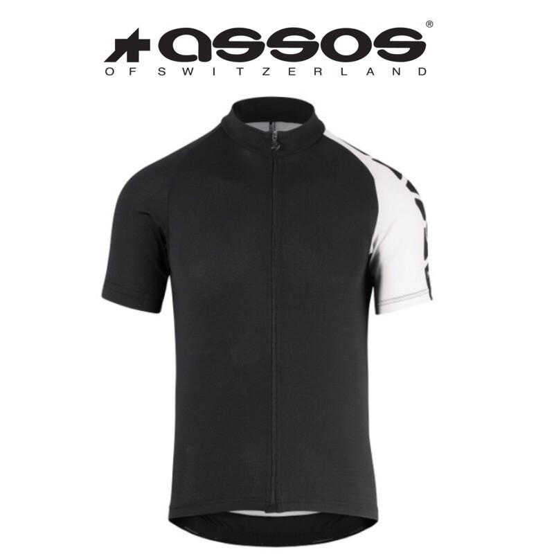 拜客先生-【ASSOS】出清特價 僅此一件 SS.MILLEJERSEY_EVO7 短袖車衣 豹白 S