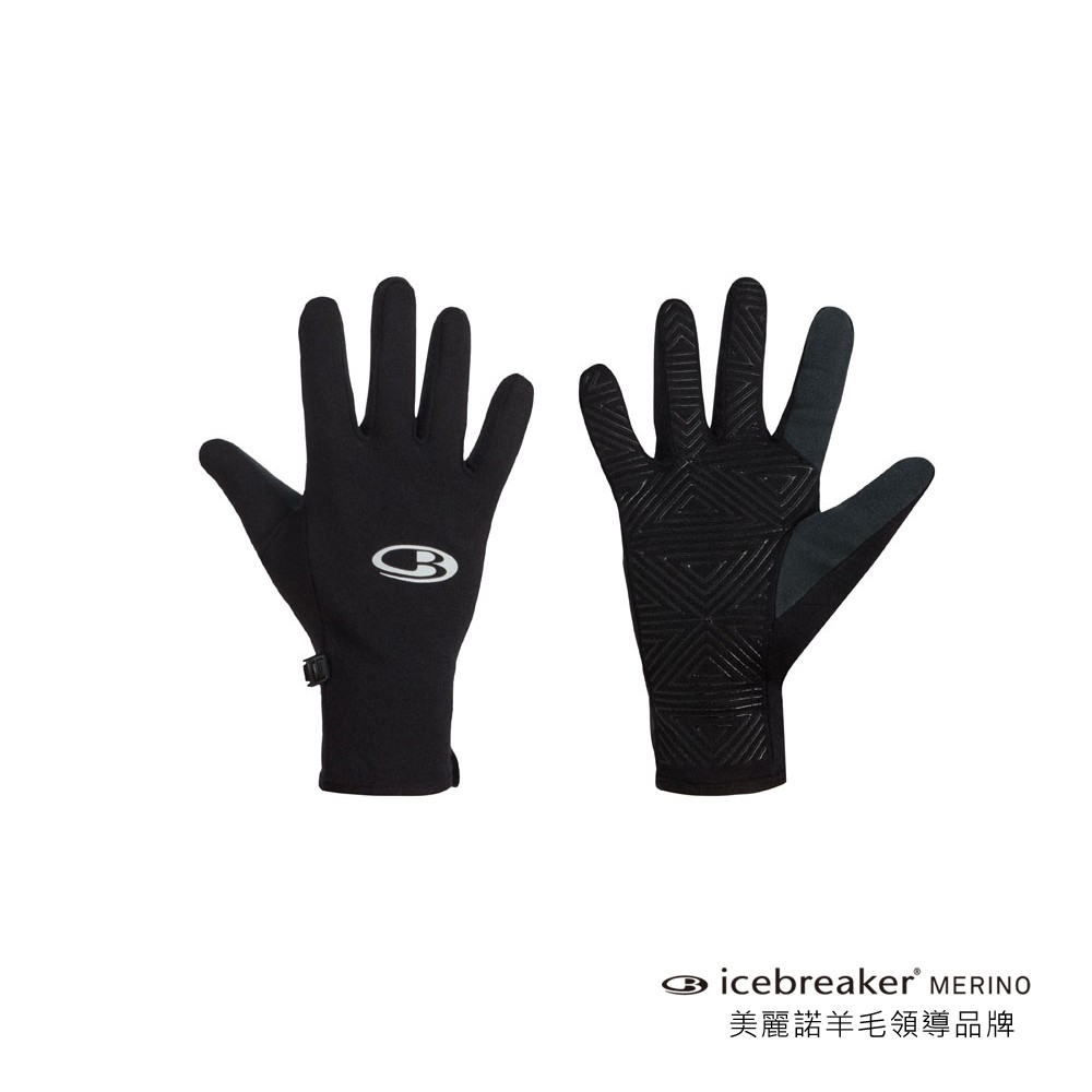 【紐西蘭 Icebreaker】輕量透氣觸控手套-AC260-黑 / IB101328-001