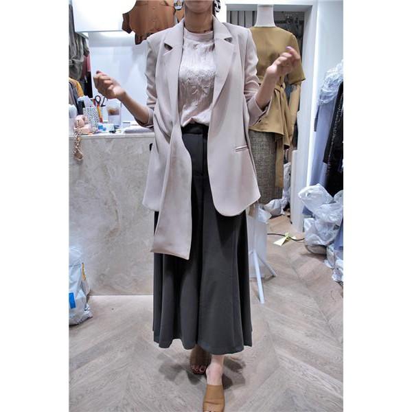 超美質感時尚寬鬆百搭裙褲寬褲