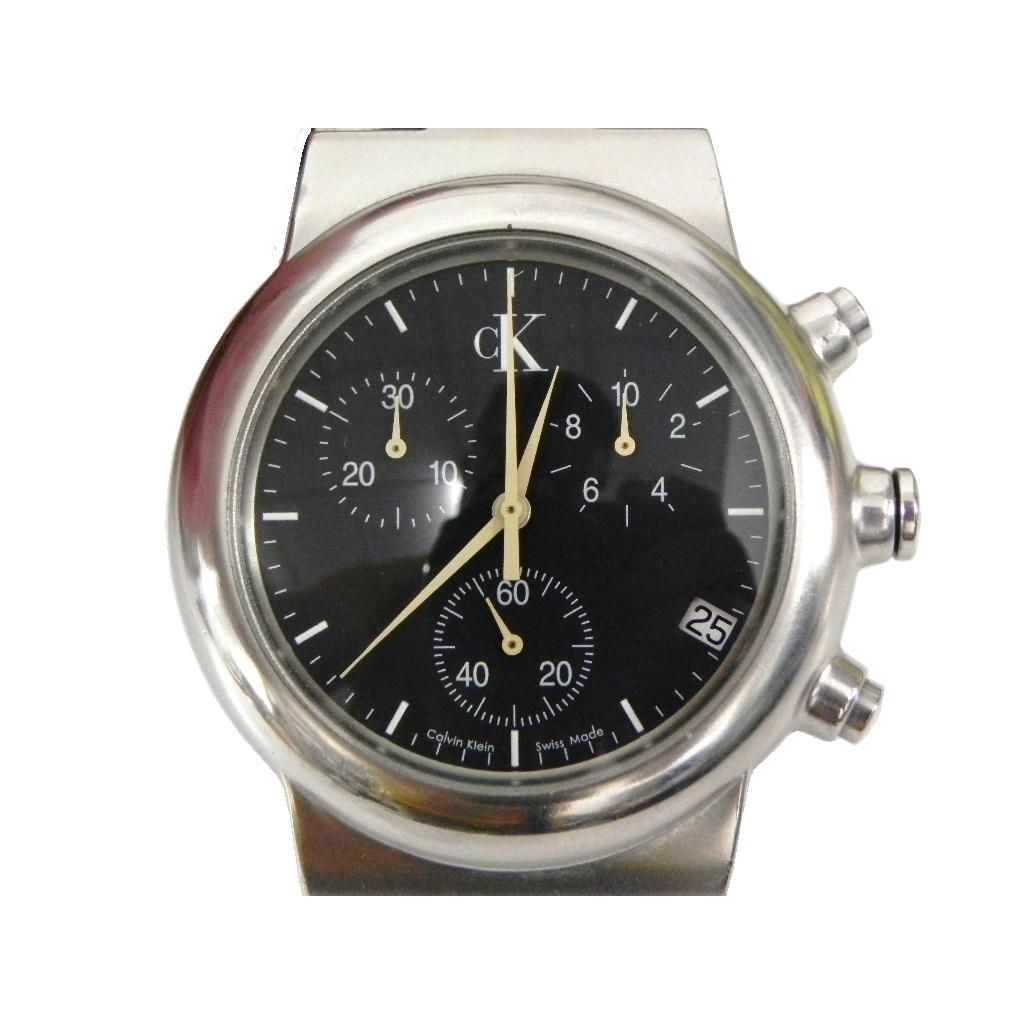 三眼錶 [CK K18171]卡文克萊三眼計時碼錶[黑色面]不銹鋼/時尚/中性/軍錶