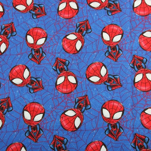 【棉布】蜘蛛人 蜘蛛俠 棉布 薄棉 卡通布 口罩布