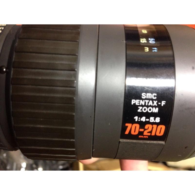 鏡頭 Pentax f 小霉 只能手動。有拆解裝回70 210mm 紅標