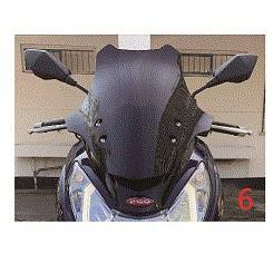 【PGO原廠零件代理】TIGRA200 跑旅地瓜彪虎200AR 精品 擋風鏡組合 黑 擋風板飾蓋(加工風鏡孔)銀黑色
