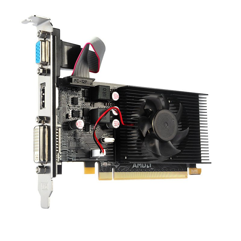 【3C專賣】全新amd顯卡 HD6450 1G顯卡小機箱半高刀卡高清台式電腦獨立顯卡