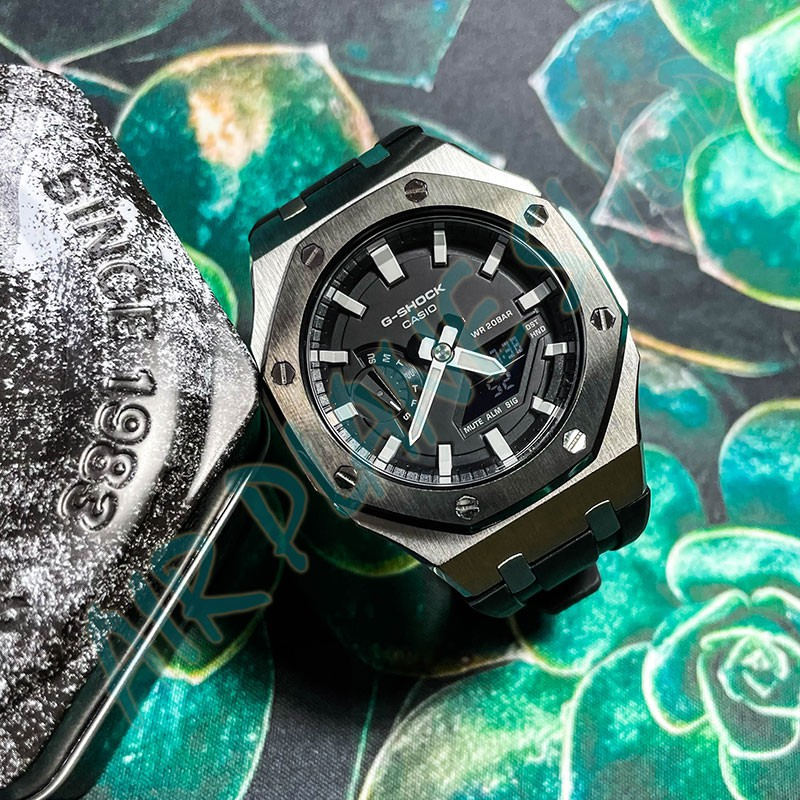 CASIO GA2100 改裝 錶殼 橡膠錶帶 卡西歐 農家橡樹