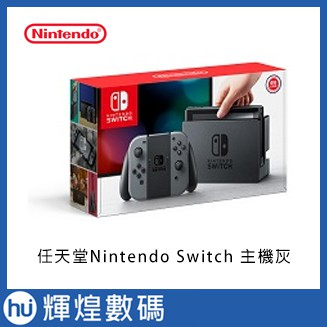 任天堂Nintendo Switch-電光灰 (2019) (電池持續時間加長) Joy-Con 展碁代理台灣公司貨