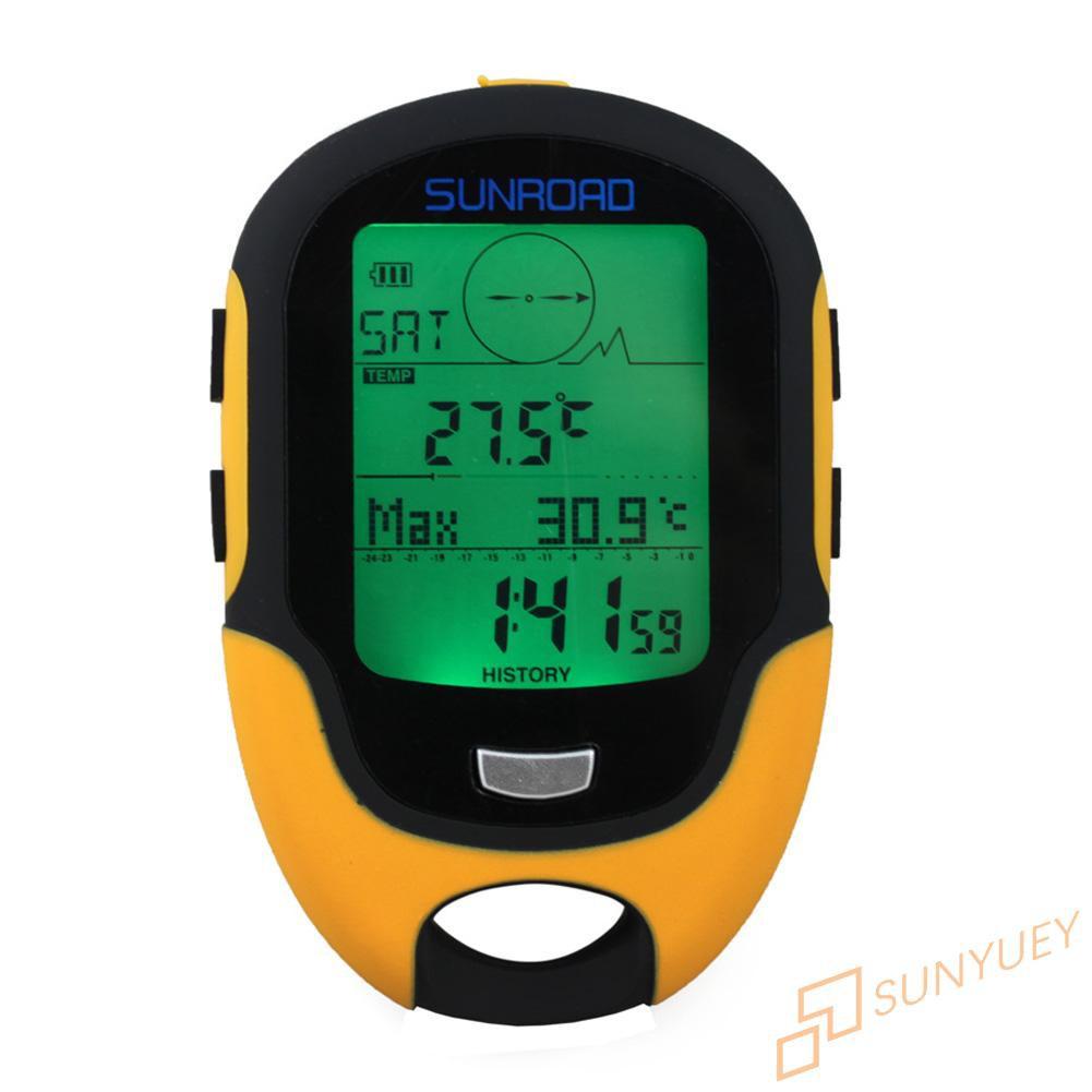防水FR500多功能液晶數字高度計氣壓計指南針