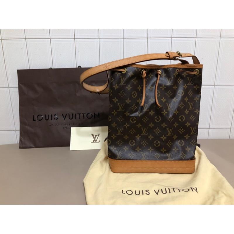 二手 LV Louis Vuitton M42224 經典 原花 大水桶包 束口包 側背包