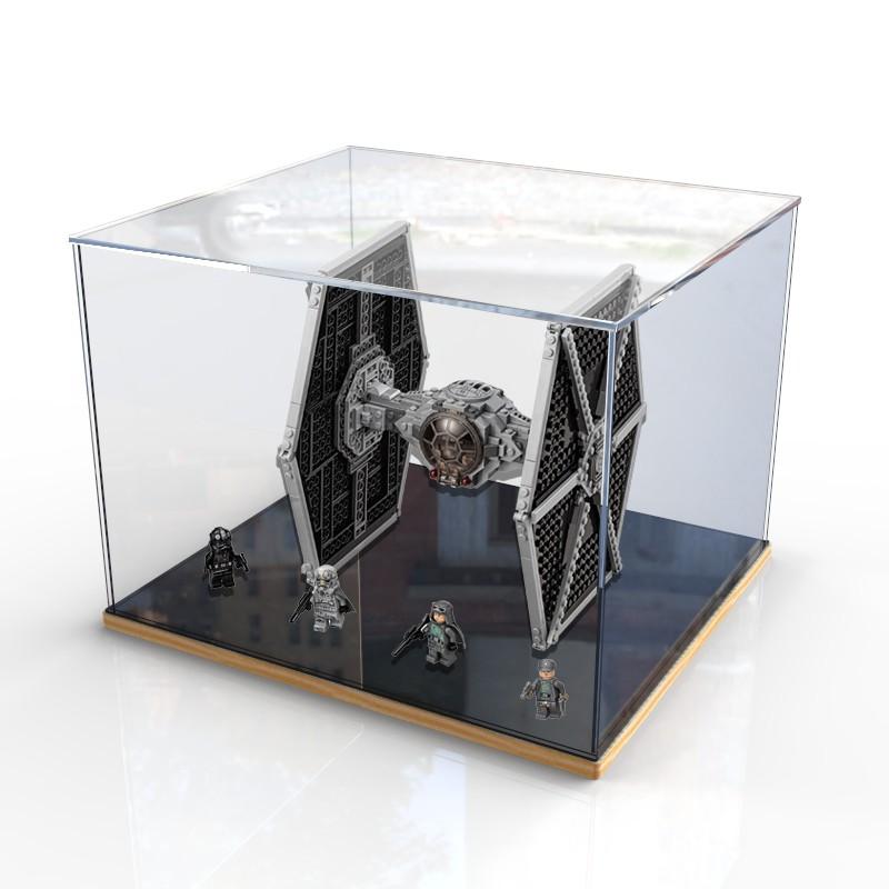 【xnx】適用樂高75211星球大戰帝國鈦戰機克力展示盒 防塵盒手辦收納盒
