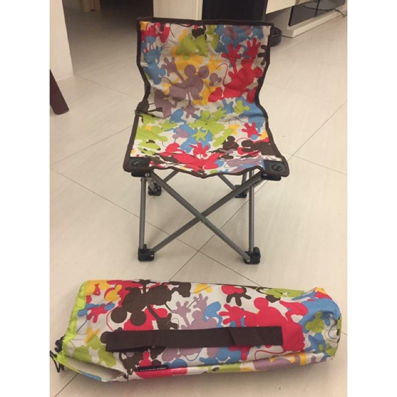 正日本露營野餐椅(米奇圖案附防水袋)