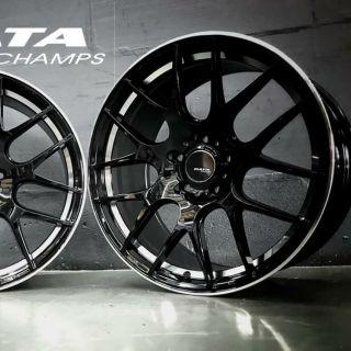 DATA 18吋5/ 108亮黑車邊鋁圈~FOCUS KUGA V40 V60 XC60(起標價非商品實際售價 請洽詢)
