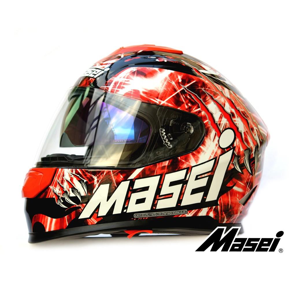 MASEI 833 Monster 全罩式 摩托車安全帽 機車 安全帽  紅色 鬼爪 正品 絕跡販售 奇蹟入荷