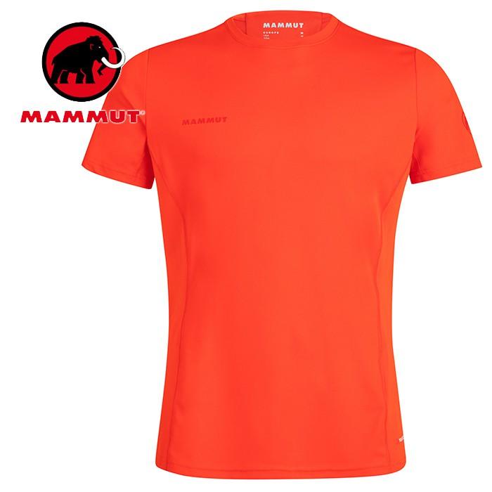 【Mammut 長毛象 瑞士】Sertig 短袖排汗衣 運動上衣 機能衣 短T 男款 辛辣紅 (00110-3445)