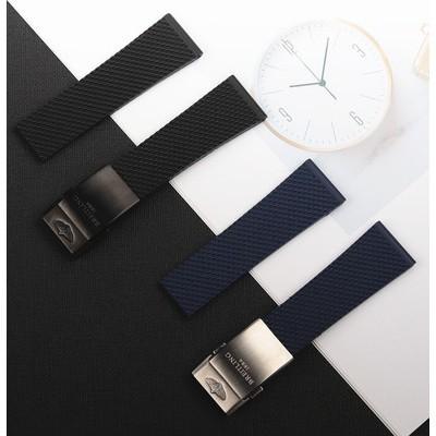 代用百年靈Breitling超級海洋復仇者黑鳥22/24mm矽膠橡膠手表帶