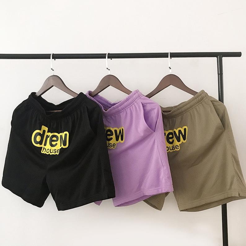 【小咪代購】Justin Bieber同款 DREW HOUSE Mesh shorts 笑臉男女運動短褲