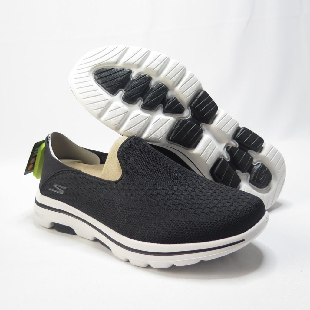 帝安諾-實體店面 Skechers GO WALK 5 - JETTER 健走鞋  55523BKW 男款 黑