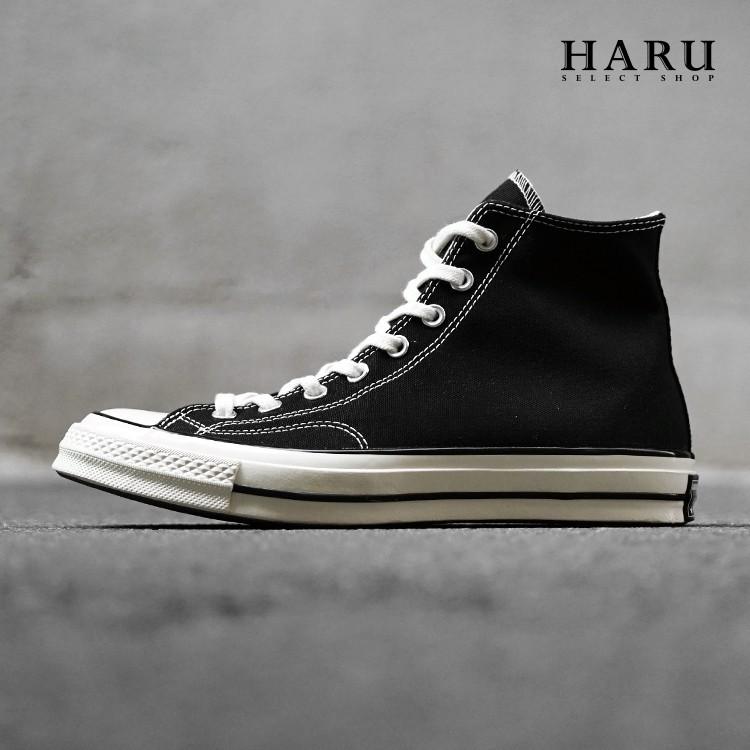 75折 ☆HAru☆ Converse Chuck Taylor 1970s 三星標 黑白 高筒帆布鞋 162050C