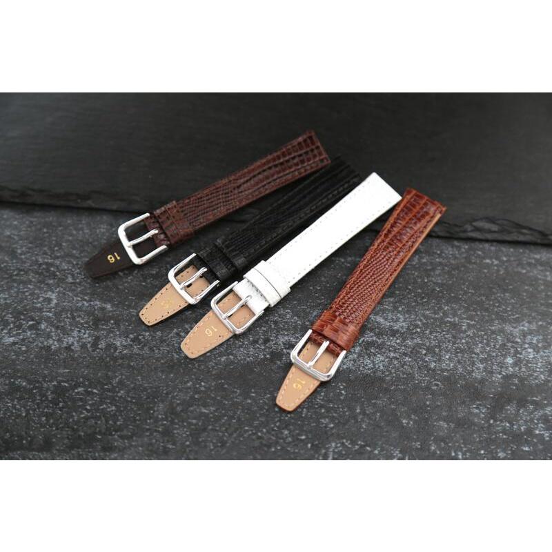 18mm可替代agnes b...等真皮面壓蜥蜴皮紋錶帶,適合替代各品牌同規格原廠錶帶