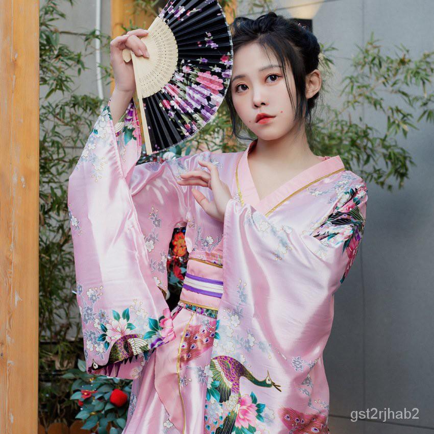 cos日本正裝女款孔雀和服舞台演出服裝寫真拍照和服倩倩雜貨商城