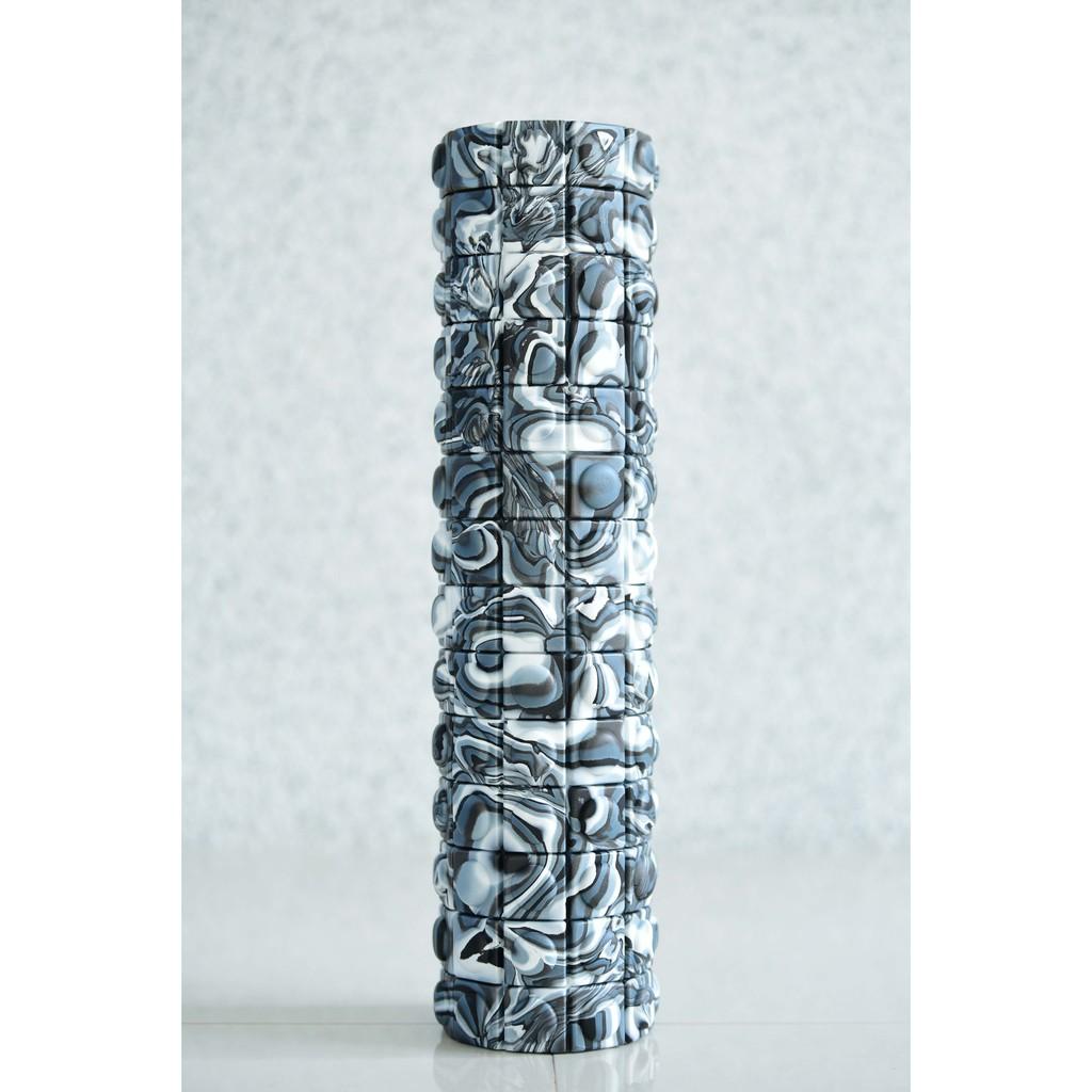 QMAT 50cm按摩滾輪-黑白石頭