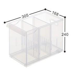 聯府 KEYWAY Fine隔板整理盒(附輪) LF2003 (6入)整理櫃/抽屜櫃 LF-2003