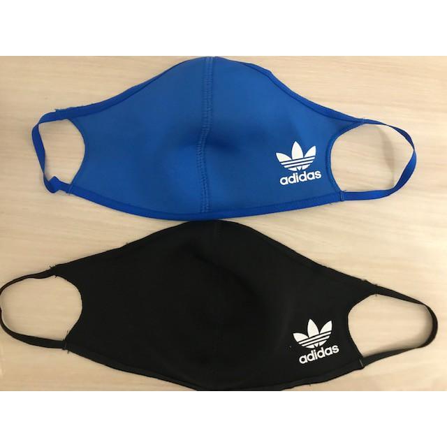 adidas口罩(有黑色,藍色兩種顏色)裡面還可加醫療口罩一起使用喔!