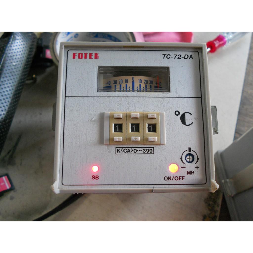 FOTEK 陽明 溫度控制器 TC-72-AD旋鈕數字顯示 TC-72-DA 指撥偏差指示 220VAC (H3)