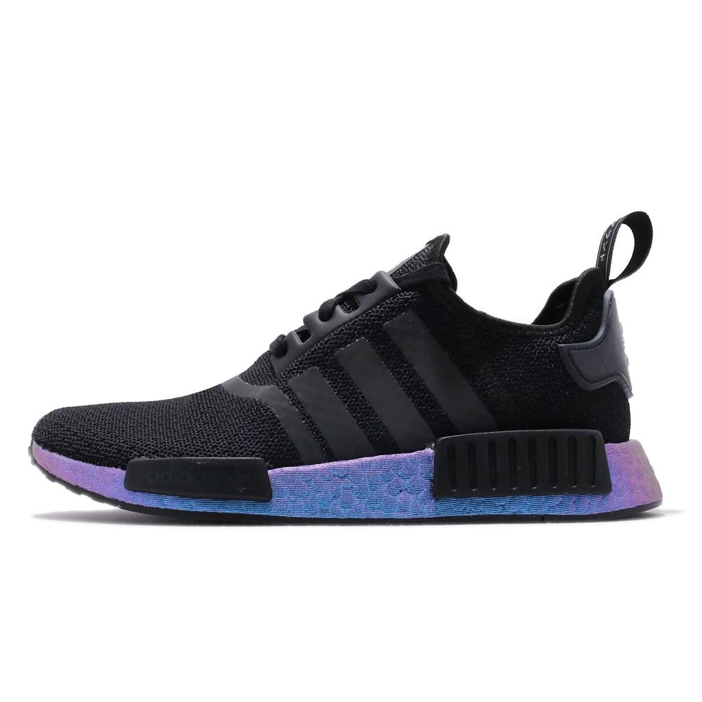 adidas 休閒鞋 NMD_R1 黑 藍 男鞋 Boost 反光設計 襪套式 運動鞋 FV3645 【ACS】