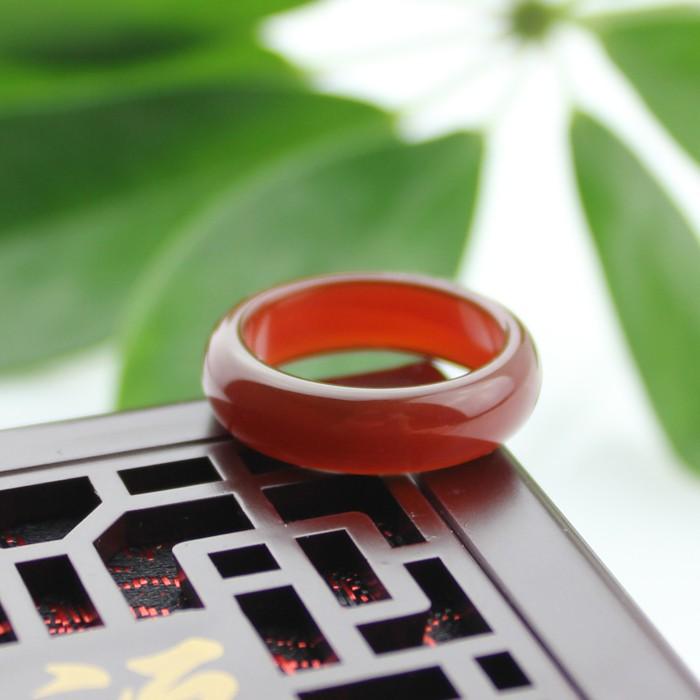 全台免運/天然黑綠黃瑪瑙玉指環 水晶紅玉髓玉扳指 經典男女款白玉戒指尾戒-Ifashion