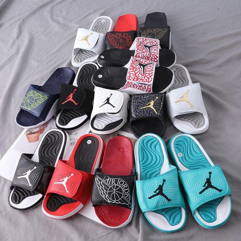 ♂∈  Air Jordan 喬登魔術貼 nike 耐吉運動拖鞋AJ飛人情侶涼鞋一字喬丹拖鞋兒童拖鞋,拖鞋