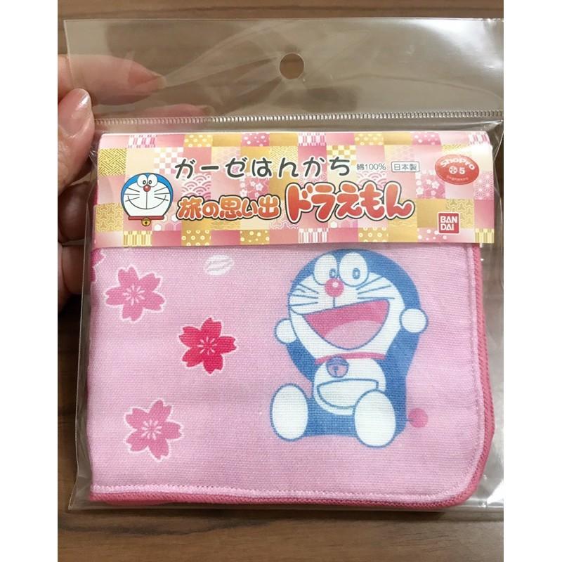 🇯🇵日本限定正版小叮噹/哆啦A夢小方巾/口水巾/小手帕