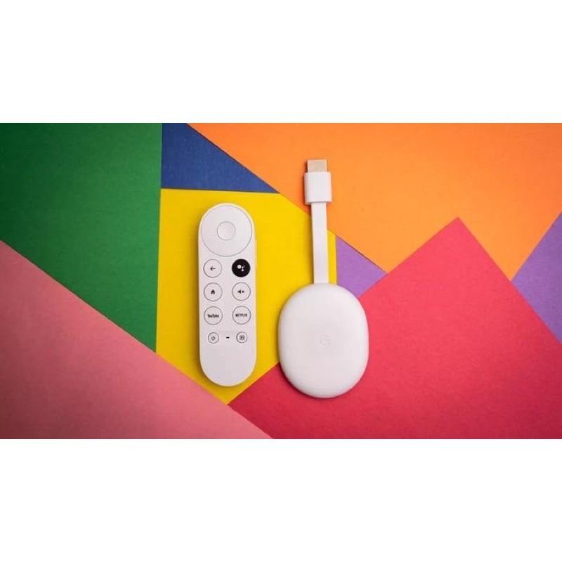 美國代購 預購 Google 第四代 Chromecast With Google TV 媒體串流播放