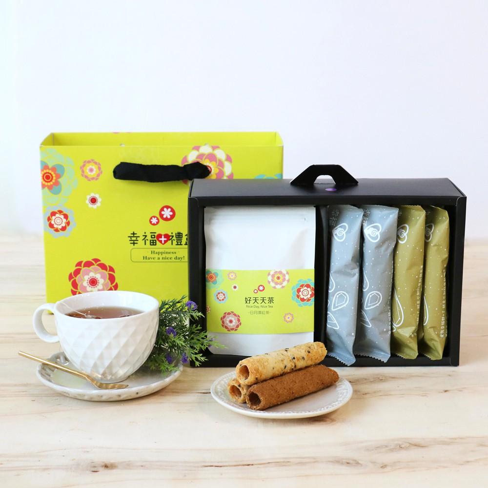 心路基金會 | 幸福+蛋捲禮盒(蛋捲/茶)16支+茶包