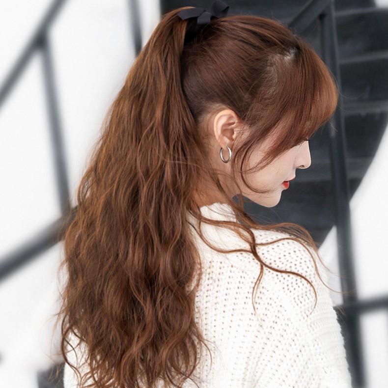 玉米鬚燙綁帶馬尾 時尚馬尾 啞光高溫絲 假髮 髮片C22 【送髮圈+鋼梳】