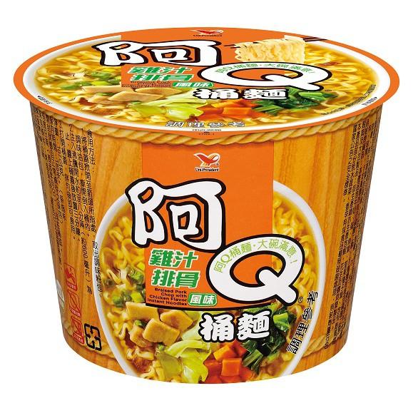 【阿Q桶麵】雞汁排骨,12桶/箱,平均單價35.75元