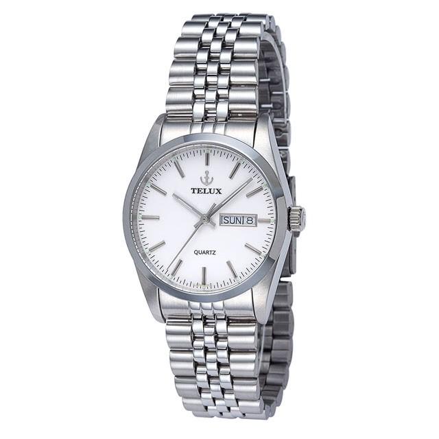 台灣品牌手錶腕錶【TELUX鐵力士】伯爵系列經典男腕錶手錶36mm台灣製造石英錶250120W-W11