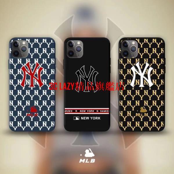 潮流時尚NY手機殼 洋基 紐約洋基棒球MLB 適用於iPhone12 i7 iX XR Xsmax 蘋果11全包防摔軟殼