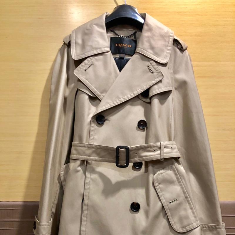COACH 中長風衣外套