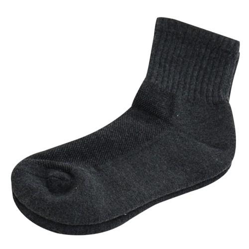 【KEROPPA】可諾帕細針毛巾底5比1氣墊1/2女短襪x3雙C91006