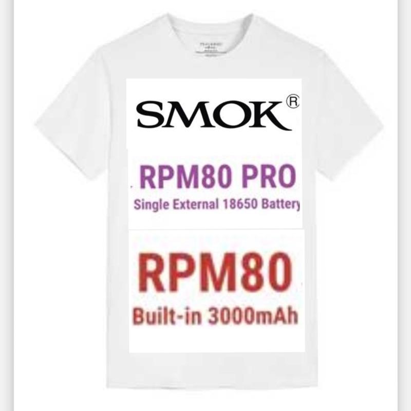 [熱熱雜貨]Smok PRM80 Pro/RPM80 18650原廠T-Shirt