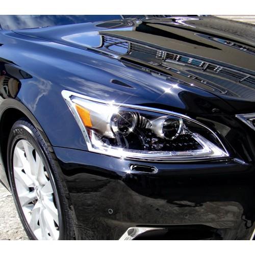 【JR 佳睿精品】12-15 Lexus LS460 LS460l LS600hl 改裝 鍍鉻大燈框 前燈框 飾條 貼紙