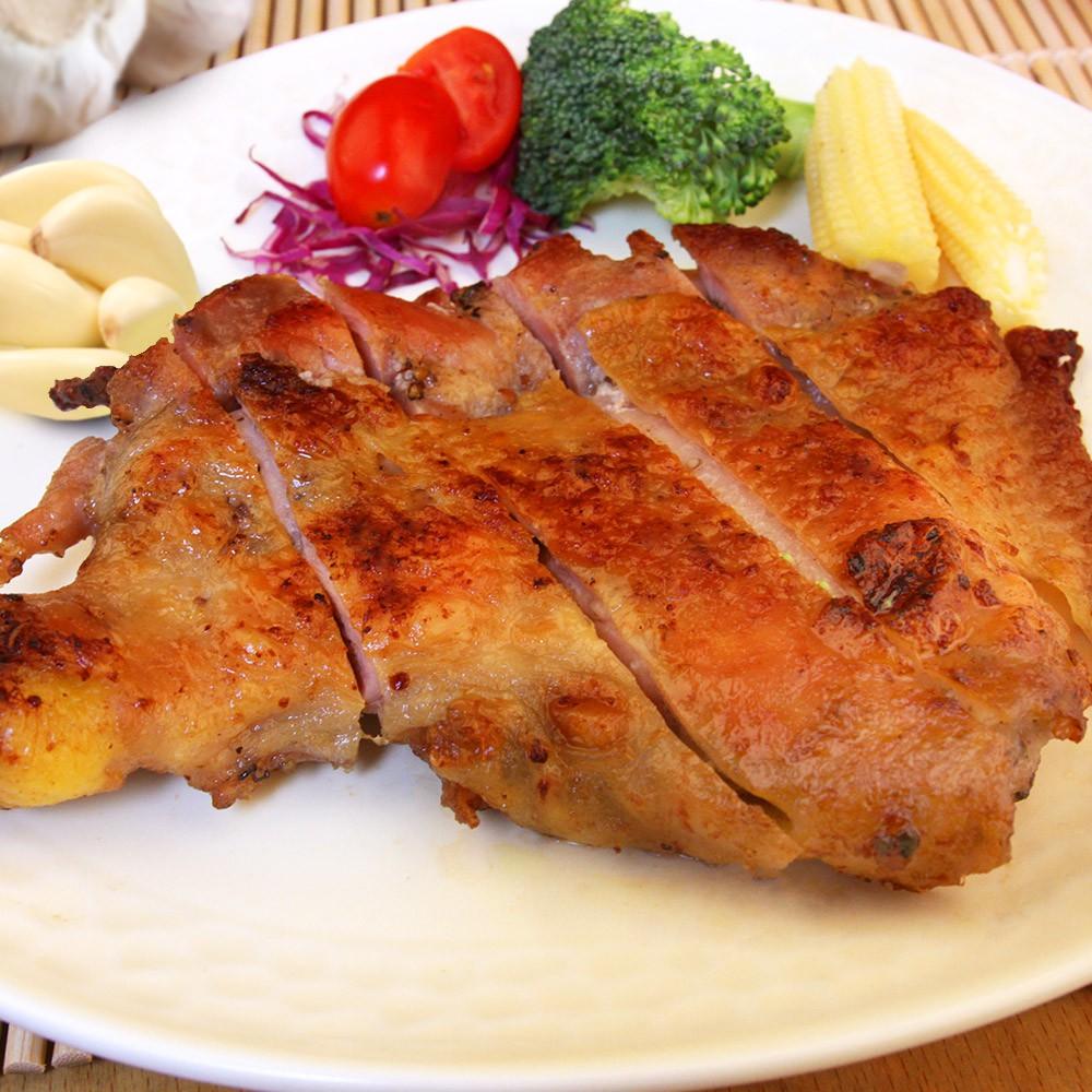 【食吧-任選】香蒜無骨嫩雞腿排*1片組(230g±10%片)