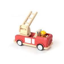 二手-Plan Toys 木製消防雲梯車