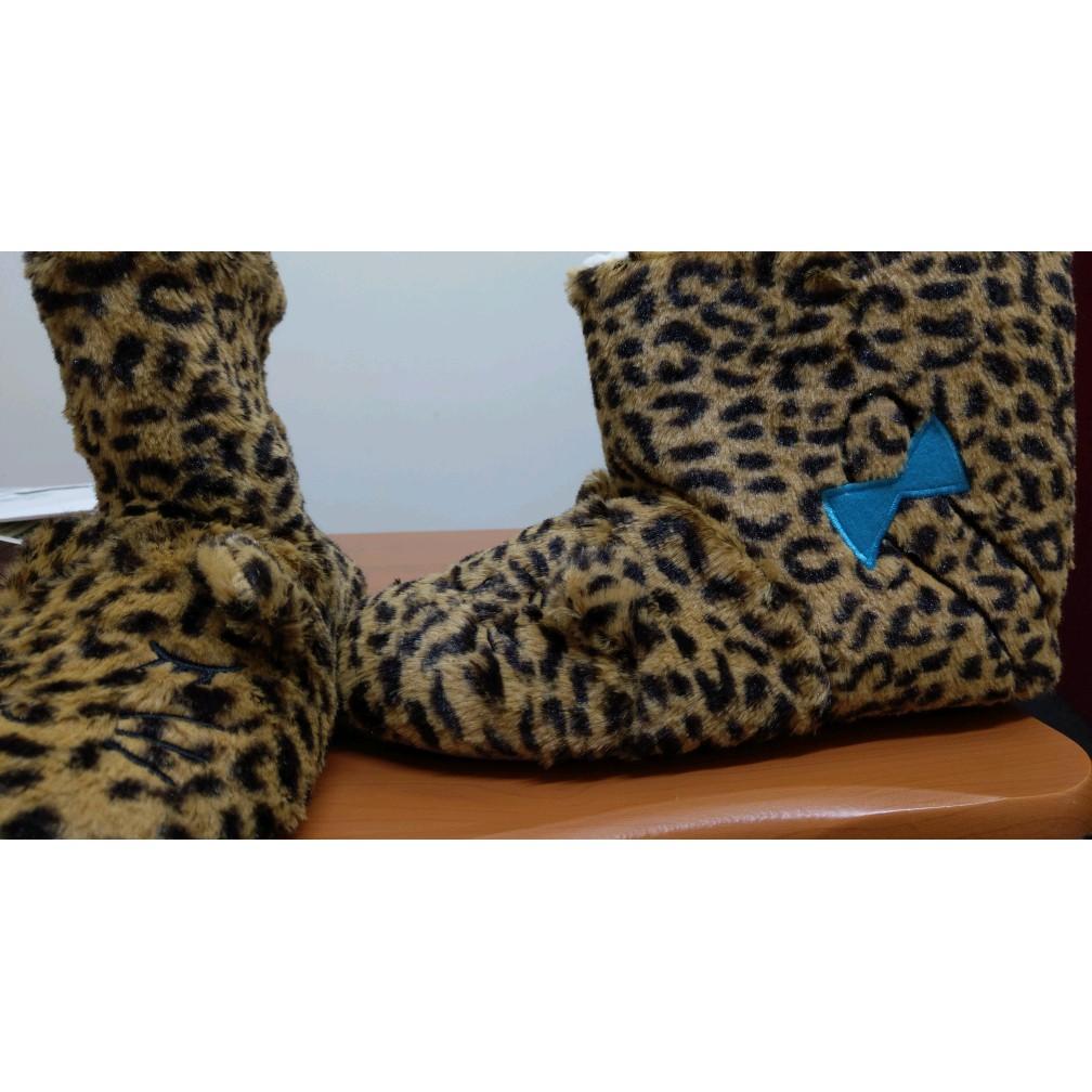 Kanaii boom~可愛豹紋保暖室內鞋