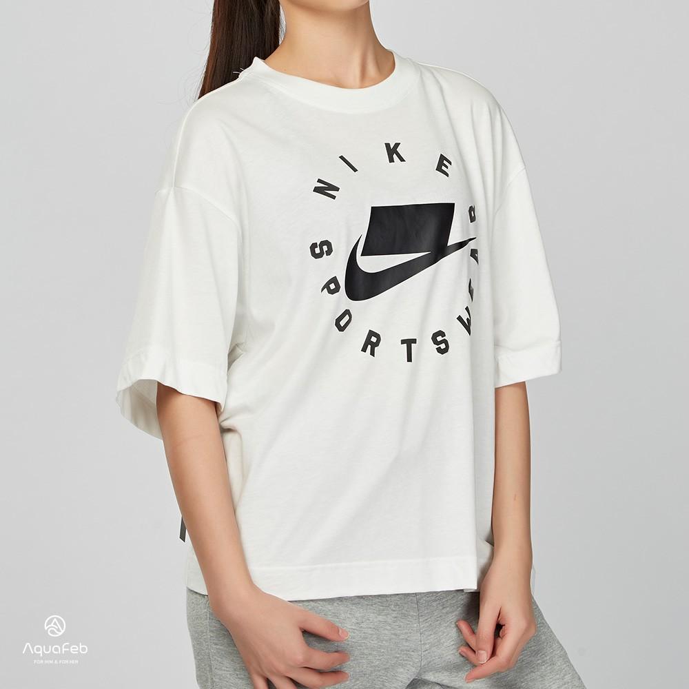 Nike Sportswear 女子 白色 休閒 運動 短袖 T恤 AT0567-121