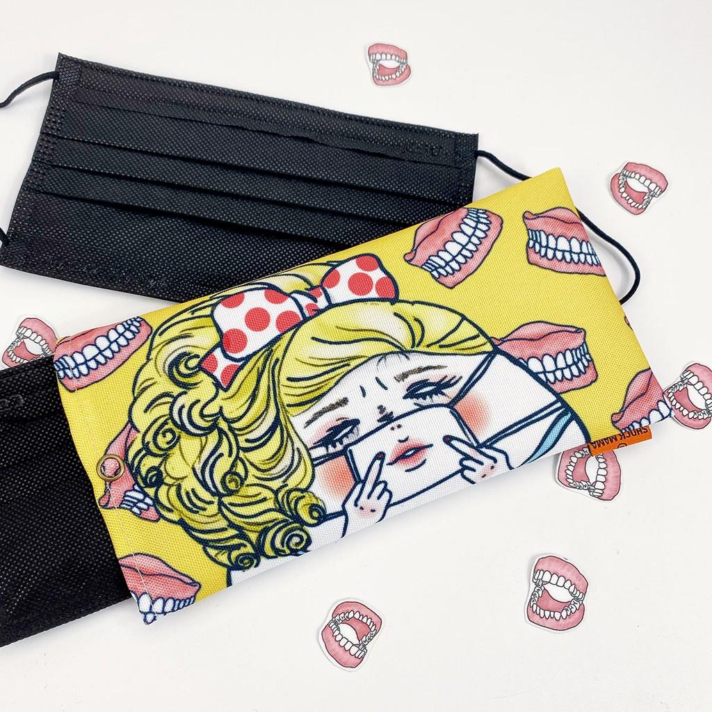 【Shock MAMA 蛋定人生】 口罩收納袋 豬鼻女